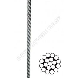 Oceľové lano DIN 3053 1x19 na cievke
