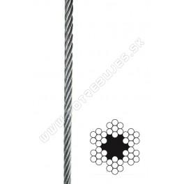 Oceľové lano DIN 3055 6x7 na cievke