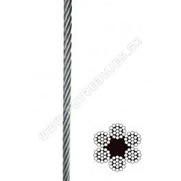 Oceľové lano DIN 3060 6x19  na cievke