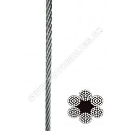 Oceľové lano DIN 3066 6x37+FC na drevenej cievke